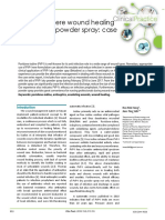 Promote Severe Wound Healing by Pvpi Dry Powder Spray Case Series Report
