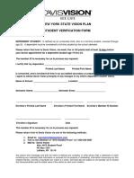 Davis Vision Student Verfication Form