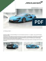 McLaren 600LT Order Summary