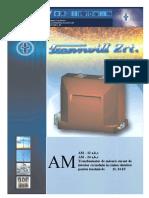 2 1 3 Transformatoare de Masura Curent Interioare Tip AM