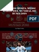 Luis Miguel Urbina - Tras Dos Meses, Messi Habló Del Mundial de Rusia 2018