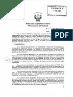 RD  N°607-2014-MEM-DGAAN (3era Mod. EIAsd)