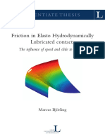 friction in elasto hydrodynamically lubricated contacts