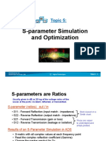 SparameterSimulationOptimization Slides