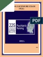 Psychiatric Nursing Bullets Reviewer 1