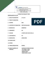 Request Fumigation Form 17 Julai