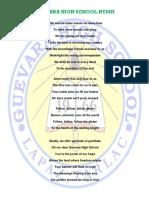 Guevara High School Hymn