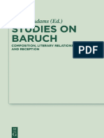 Adams, Sean a. (Ed) Studies on Baruch.. Composition, Literary Relations, And Reception, Berlin 2016