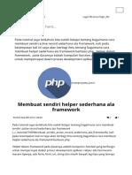 Membuat Sendiri Helper Sederhana Ala Framework - Jagocoding.com