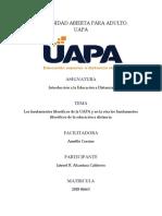 Tarea 9-Los Fundamentos Filosóficos de La UAPA y en La Otra Los Fundamentos Filosóficos de La Educación a Distancia