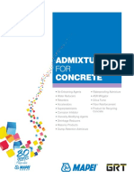 Brochure Admixtures for Concrete En