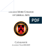 Thomas More College Catalogue 2018-19 Fall