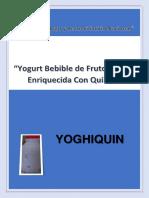 Proyecto de Innovacion Yogurt.