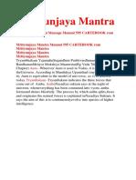 Mrityunjaya Mantra Manual 595 CARTEBOOK Rom