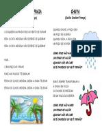 o Coqueiro e Chuva - Letras