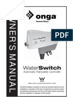Onga Water Switch Owners Manual 270906