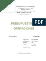 PRESUPUESTO DE OPERACIONES