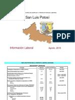 San Luis Potosi en el Contexto Laboral Actual Agosto 2018