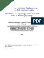 Mindfulness y Psicología