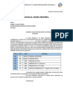 MODELO DE SOLICITUD DE DONACIÓN DE MATERIALES