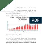 Que sector exporta mas en el Perú