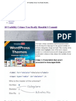 10 Usability Crimes You Really Shouldn't Commit
