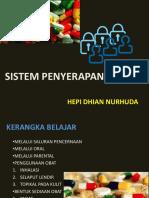 1. Sistem Penyerapan Obat