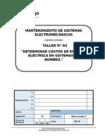 T-03 Determinar Costos de Energía Eléctrica en Sistemas de Bombeo.