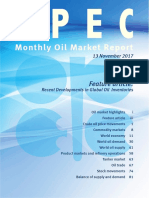 Informe OPEP  noviembre 2017