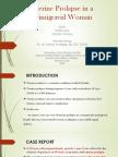 Uterine Prolapse in a Primigravid Woman journal.pptx