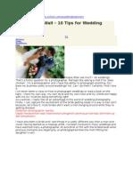 10 Tips 4 Wedding Beginners