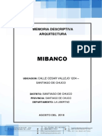 Memoria Descriptiva Arquitectura MIBANCO - Santiago de Chuco.docx