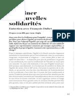 François Dubet Imaginaire Inégalités - Esprit Sept 2018