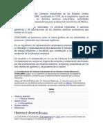 La Confederación de Cámaras Industriales de los Estados Unidos Mexicanos.docx