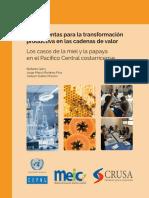 Herramientas Para La Transformación Productiva en Las Cadenas de Valor Los Casos de La Miel y La Papaya en El Pacífico Central Costarricense