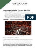 Anguita-Monereo-Illueca. ¿Fascismo en Italia. Decreto Dignidad, 5-9-18