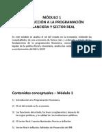 MÓDULO 1Introducción a La Programación Financiera y Sector Rea