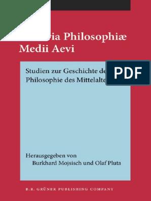 Historia philosophiae Medii Aevi Studien zur Geschichte der
