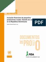 Inclusión Financiera de Pequeños Productores Rurales Estudio de Caso en La República Dominicana