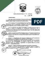 Procedimientos Administrativos Para El Derecho de Uso de Agua