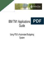TM1 Budget Entry User Guide_0