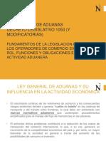 Ley General de Aduanas Fundamentos Legislacion Potestad y Principios