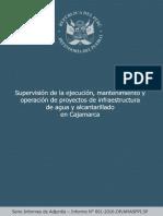 Informe de Supervisión proyectos agua y alcantarillado_Cajamarca