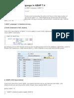 New ABAP Language in ABAP 7.4 - SAP Tutorial