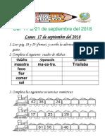 Tareas 1° Del 17 al 21 de septiembre 2018.docx