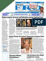 Baltimore Afro-American Newspaper, October 9, 2010