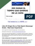 Documentop.com Libro El Origen de La Vida Oparin Descargar Gratis 5a511a531723dd0008692ef7