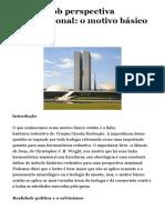 cópia de Teologia Brasileira - Artigo- Política sob perspectiva reformacional- o motivo básico cristão