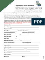 Santa Barbara Police Department special event permit application