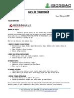 Carta Presentacion Ingenieros Sanitarios y Contratistas Generales s.a.c.